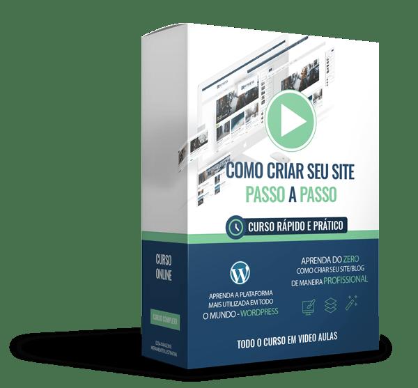 box do curso como criar site passo a passo
