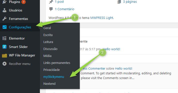 Plugin Menu fixo no WordPress - Viana Patricio