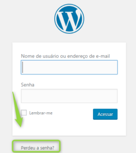 Como recuperar senha do WordPress
